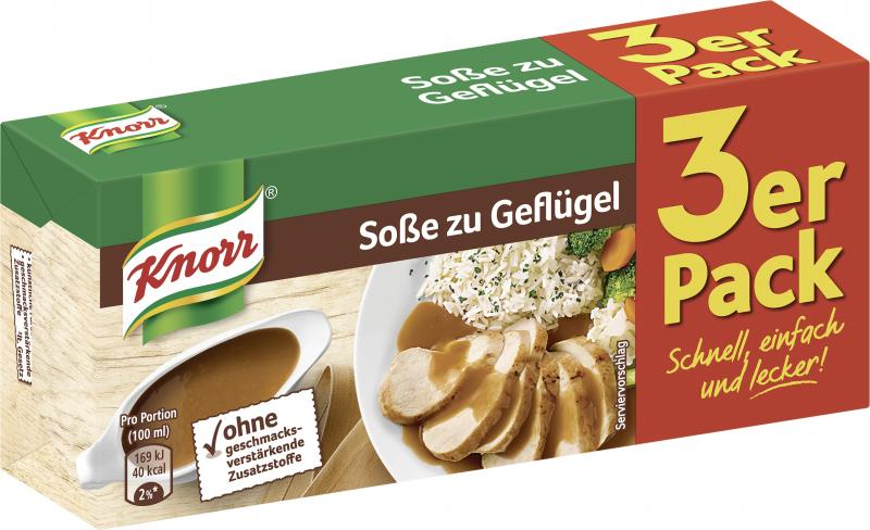 Knorr Soße zu Geflügel