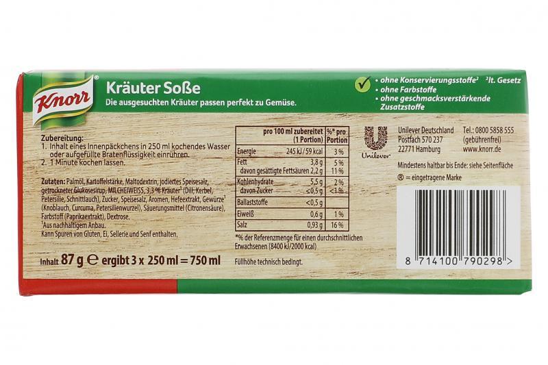 Knorr Kräuter Soße