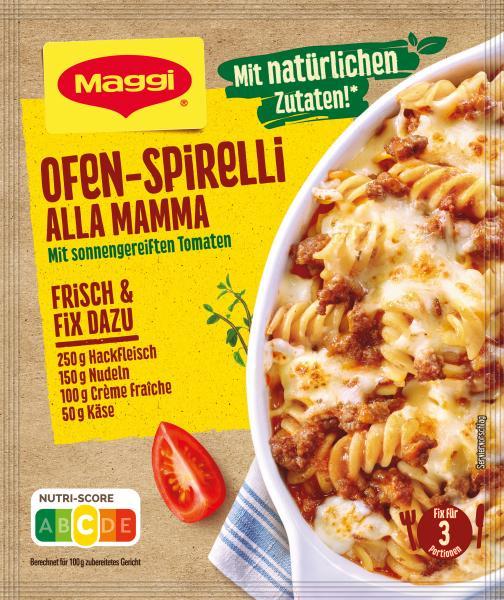 Maggi fix & frisch Ofen-Spirelli alla mamma