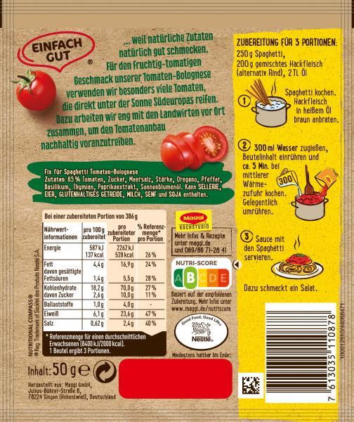 Maggi Idee für Tomaten Bolognese