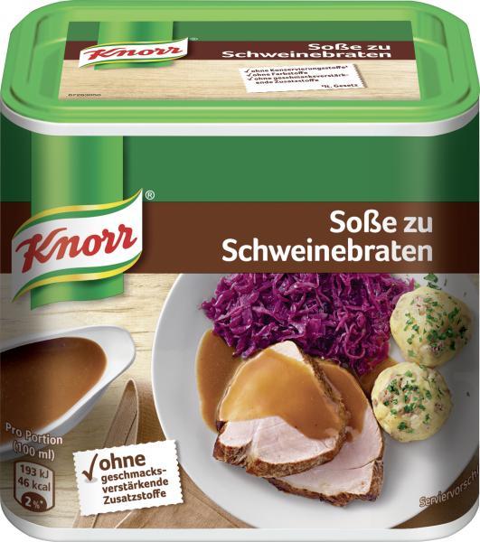 Knorr Soße zu Schweinebraten