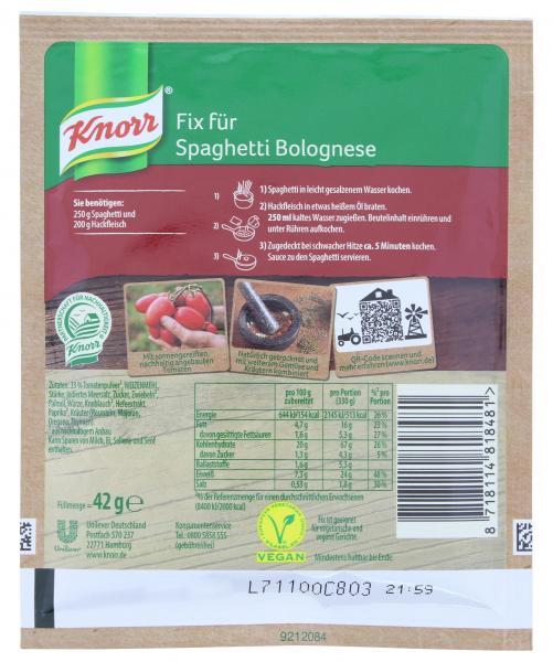 Knorr Fix Spaghetti Bolognese