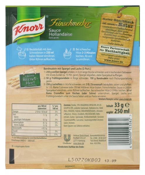 Knorr Feinschmecker Hollandaise Sauce fettarm
