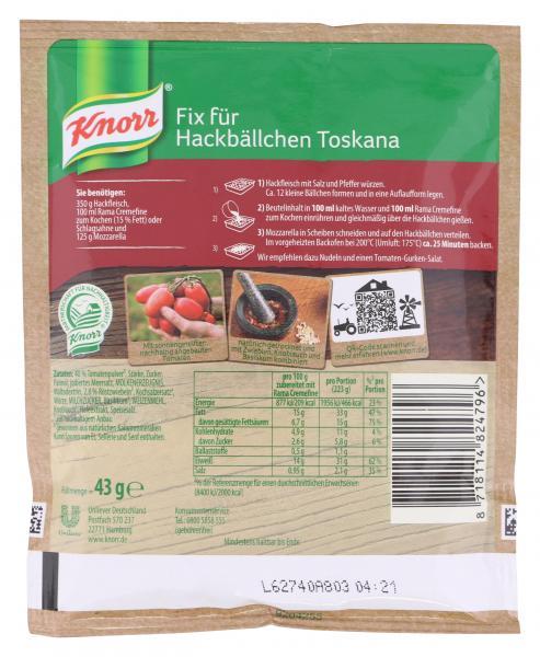 Knorr Fix Hackbällchen Toscana