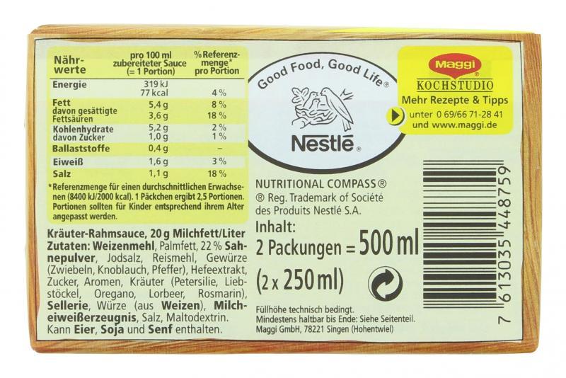 Maggi Kräuter-Rahm Sauce