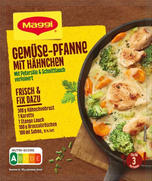 Maggi Idee für Gemüsepfanne mit Hähnchen