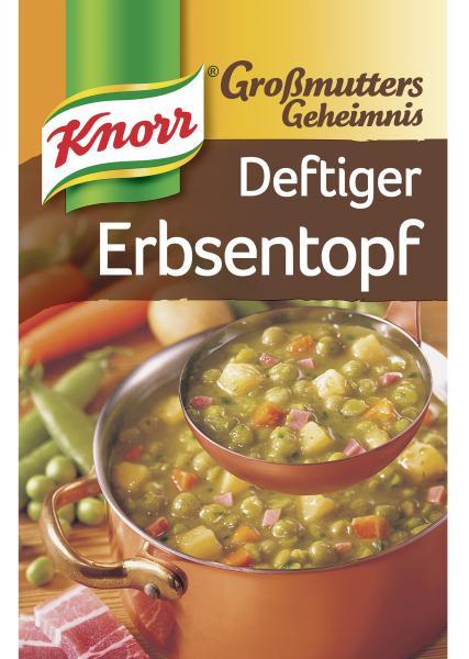 Knorr Großmutters Geheimnis Deftiger Erbsentopf mit Speck & Kartoffeln
