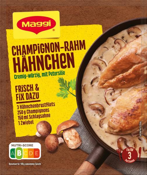 Maggi Idee für Champignon Rahm-Hähnchen