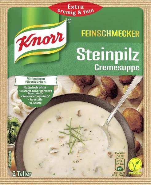 Knorr Feinschmecker Steinpilz Cremesuppe