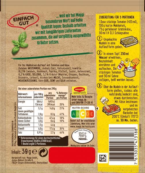 Maggi Idee für Tomaten Käse Makkaroni