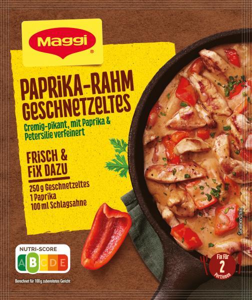 Maggi Idee für Paprika-Rahm Geschnetzeltes