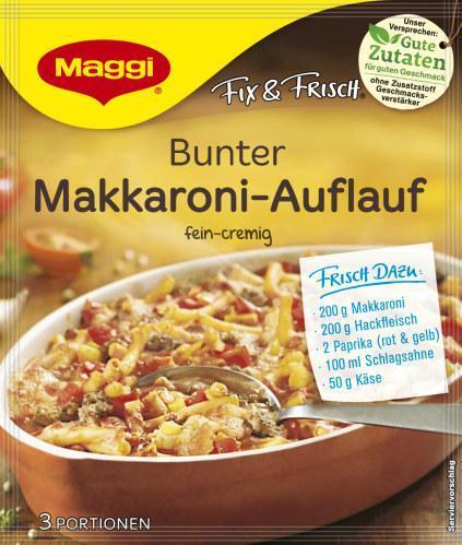 Maggi Fix für Bunter Makkaroni-Auflauf