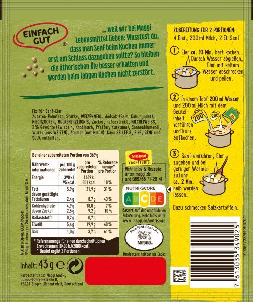 Maggi Fix für Senf-Eier