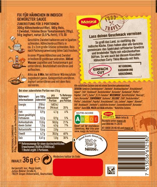 Maggi Fix für Indisches Hähnchen Curry