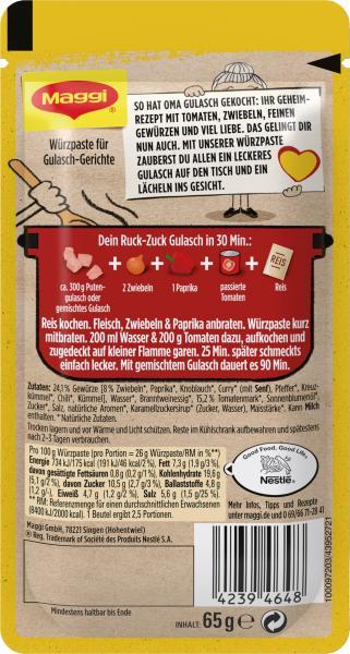Maggi Herzensküche Würzpaste Gulasch