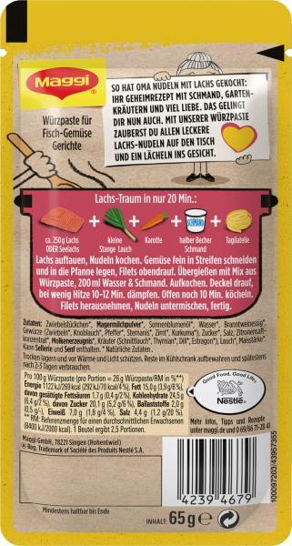 Maggi Herzensküche Würzpaste Tagliatelle mit Lachs