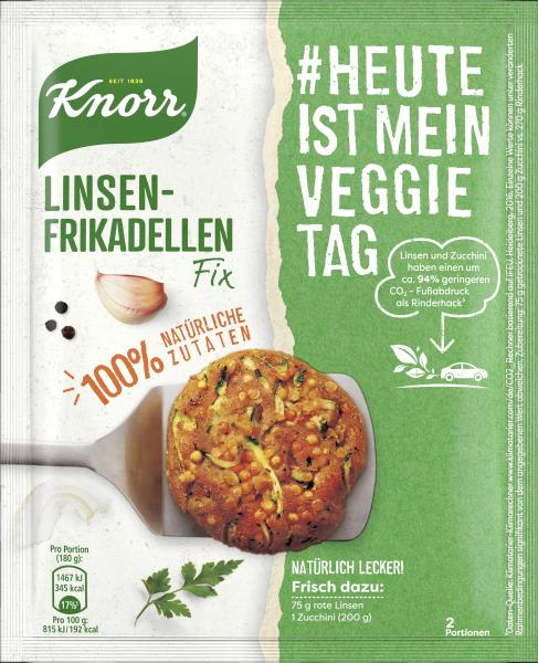 Knorr Natürlich Lecker! Linsen-Frikadellen