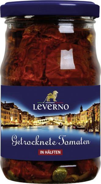 Leverno Getrocknete Tomaten in Öl mit Knoblauch und Kapern