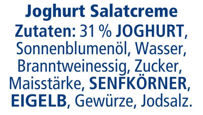 Thomy Joghurt Salat-Creme,mit 30% frischem Joghurt