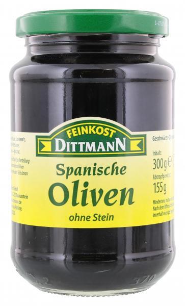 Feinkost Dittmann Spanische geschwärzte Oliven ohne Stein