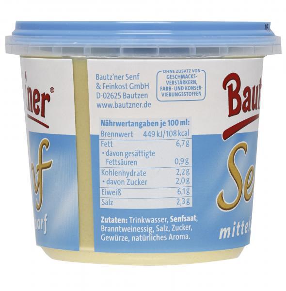 Bautz'ner Senf mittelscharf