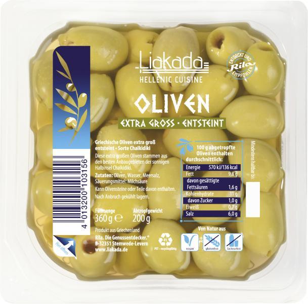 Liakada Grüne Oliven entsteint