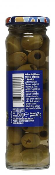 Ibero Spanische grüne Oliven ensteint