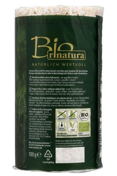 Rinatura Bio Reiswaffeln ohne Salz