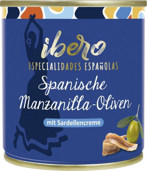 Ibero Spanische Manzanilla-Oliven mit Sardellencreme