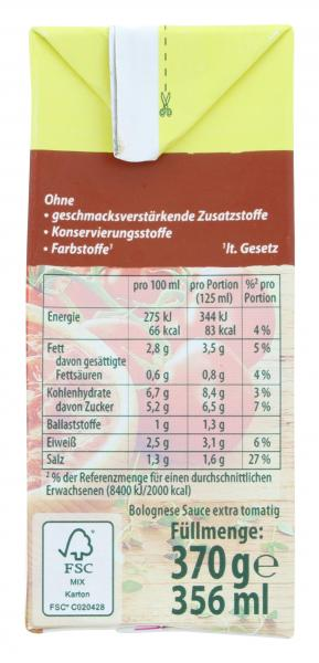 Knorr Tomato al Gusto Tomaten-Bolognese