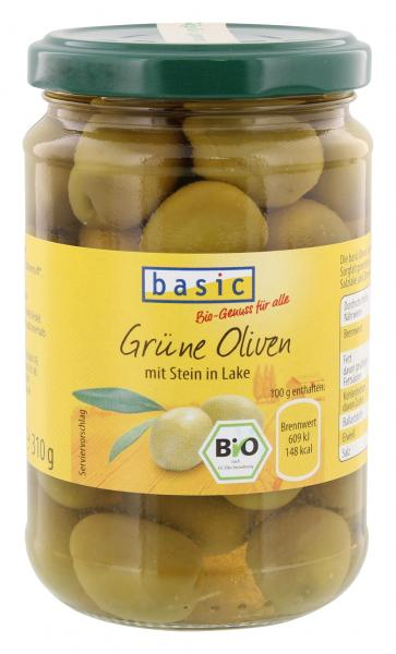Basic Grüne Oliven mit Stein in Lake