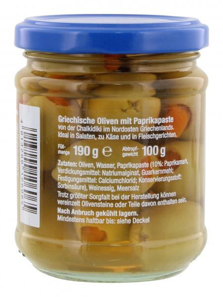 Liakada Oliven mit Paprikapaste