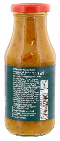 Lien Ying Asian-Spirit Wok-Sauce Ananas-Curry
