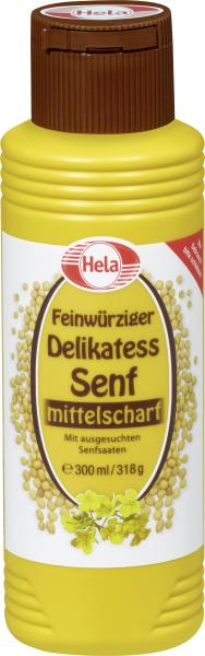 Hela Delikatess Senf mittelscharf