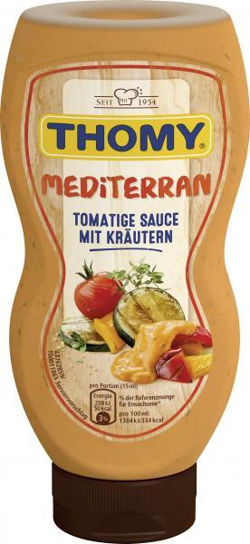 Thomy Mediterrane Sauce, mit sonnengereiften Tomaten