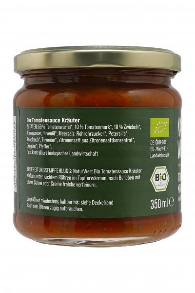 NaturWert Bio Tomatensauce Kräuter fruchtig