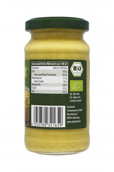 NaturWert Bio Delikatess Senf mittelscharf