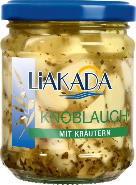 Liakada Knoblauch in Öl mit Kräutern