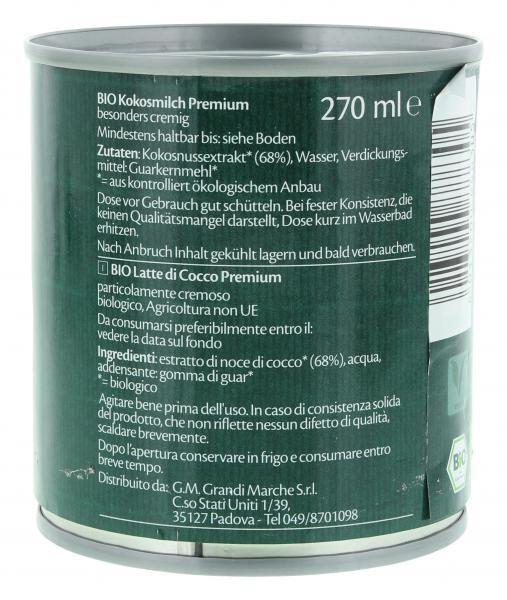 Lien Ying Organic Bio Kokosmilch Premium
