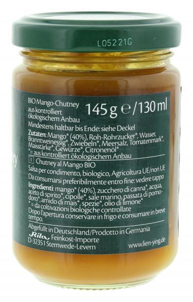 Lien Ying Organic Bio Mango-Chutney