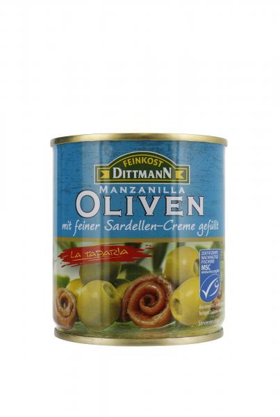 Dittmann Oliven grün gefüllt mit Sardellen-Creme