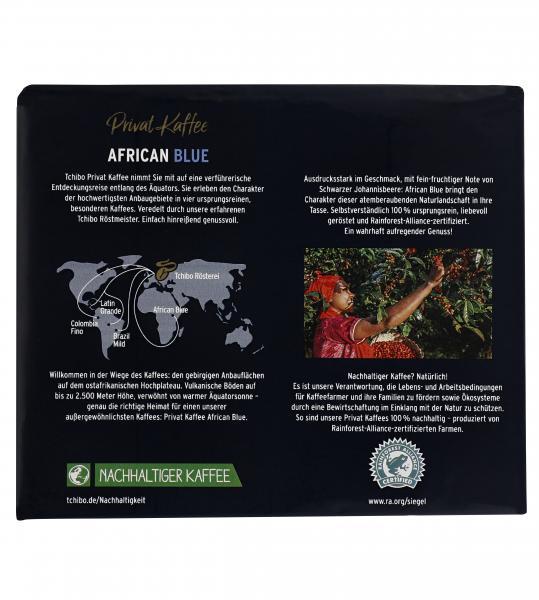 Tchibo Privat Kaffee African Blue - 500g Gemahlen