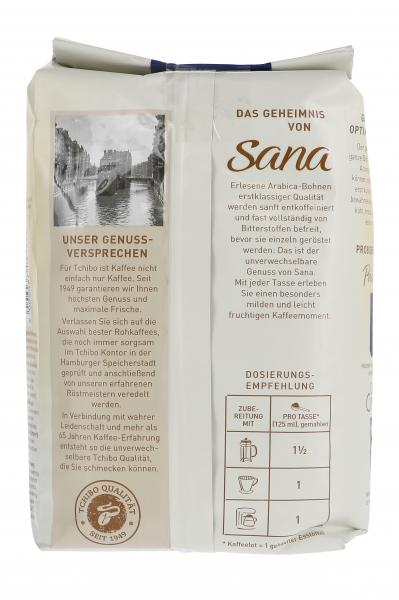 Tchibo Sana sanft-entkoffeiniert - 500g Ganze Bohne