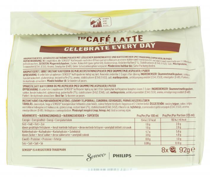Senseo Pads Café Latte, 8 Kaffeepads