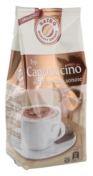 Satro Cappuccino mit feiner Kakaonote