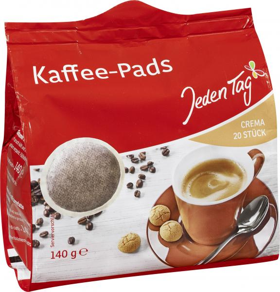Jeden Tag Kaffee-Pads crema