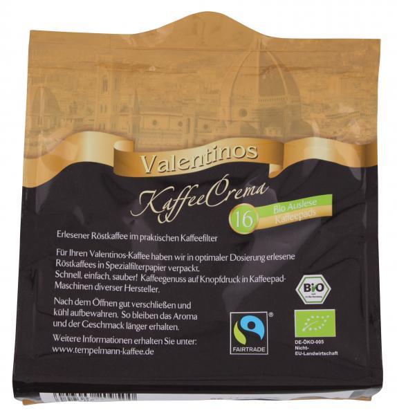 Valentinos Kaffee Crema Pads