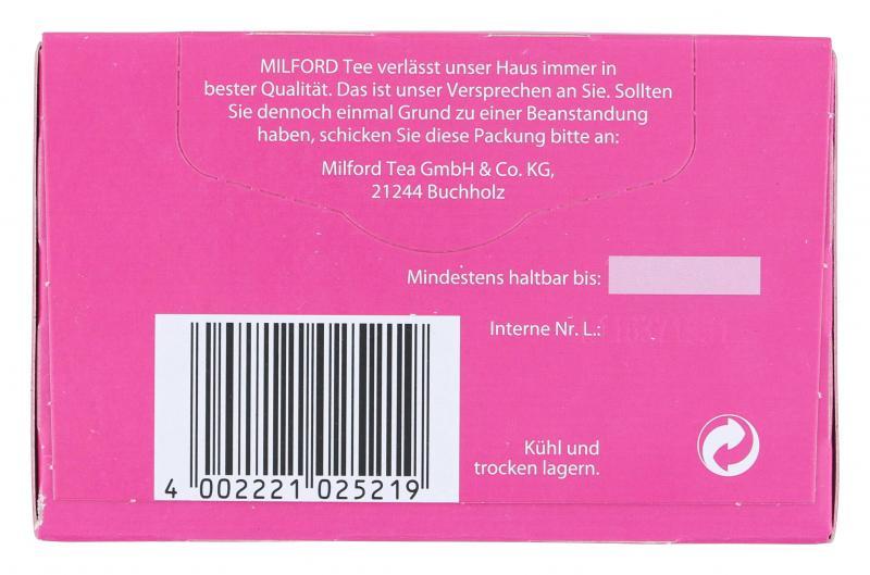 Milford Feentraum Himbeere-Holunderblüte-Vanille Tee