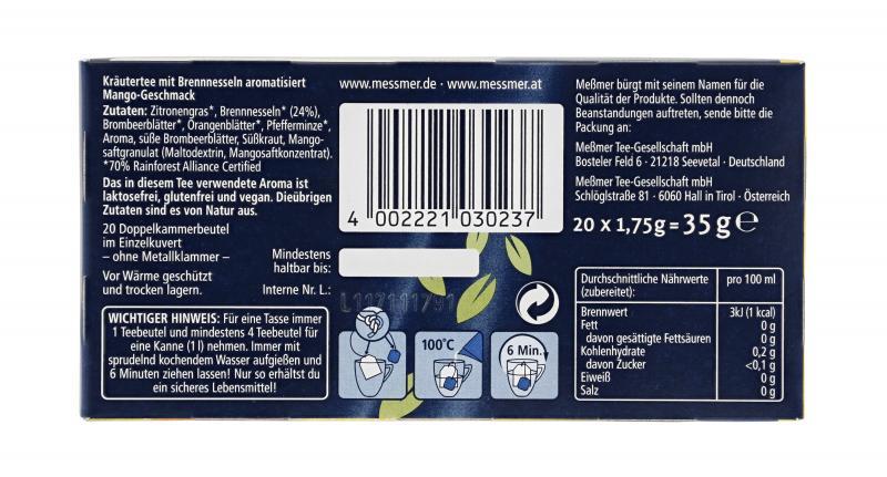 Meßmer Tee Brennnessel-Mango