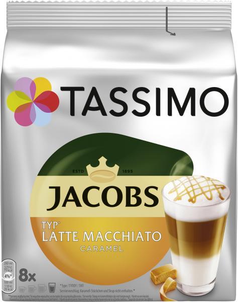 Tassimo Kapseln Jacobs Latte Macchiato Caramel, 8 Kaffeekapseln